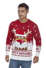 Weihnachtspulli - Rudolph Gekleidet als Santa Claus