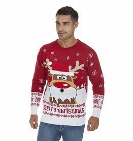 Weihnachtspulli - Rudolph Gekleidet
