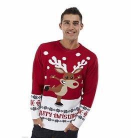 Weihnachtspulli Rudolph on Ice Rot