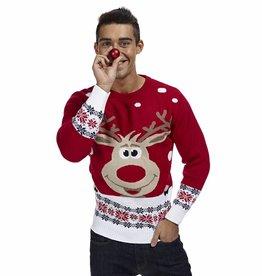 Weihnachtspulli Rudolph Rot