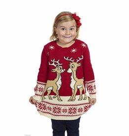 Weihnachtspulli Kleid Mädchen
