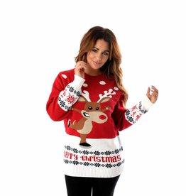 Weihnachtspullover Rudolph On Ice Rot