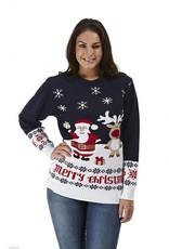 Weihnachtspullover Geschenken Dunkelblau Damen