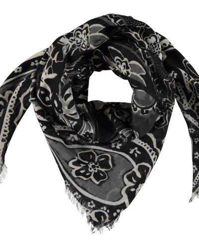 Sjaal met grafisch zwart/wit patroon