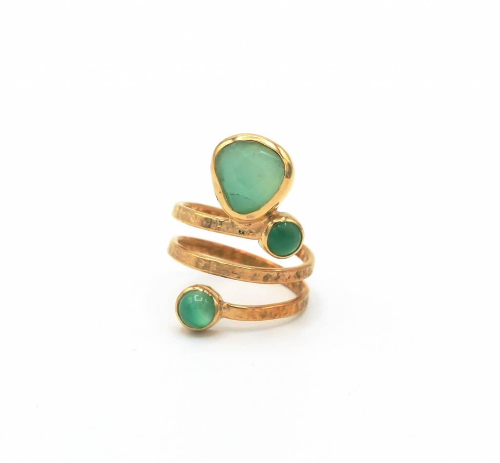 Beroemd Ring met groene edelstenen - Blauw Diest - Juwelen Blauw Diest @AN46