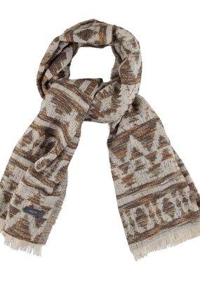 Sjaal beige met geometrisch motief