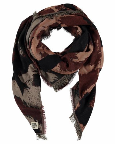 Sjaal vierkant donkerbruin