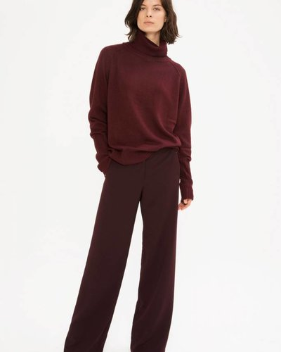 Zenggi Wider Rollneck Sweater Red Plum