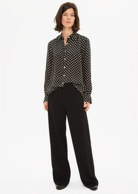 Zenggi Japanese Cupro Dot Shirt Black