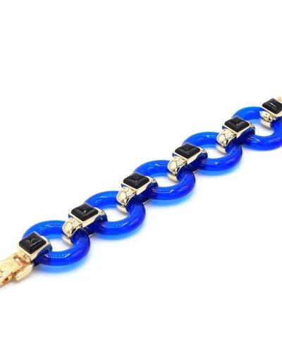 Armband met blauwe schakels