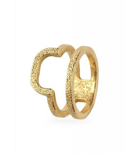 Ola Ring dubbel afgerond goud