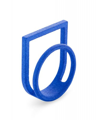 Ola Ring dubbel met kader blauw