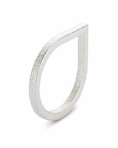 Ola Ring druppel zilver