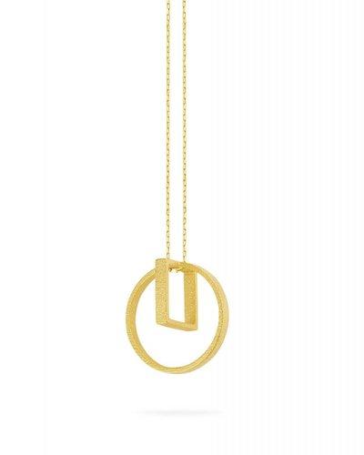 Ola Halsketting met cirkel en vierkant hanger