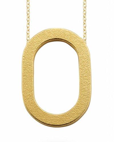 Ola Halsketting met grote ovalen hanger