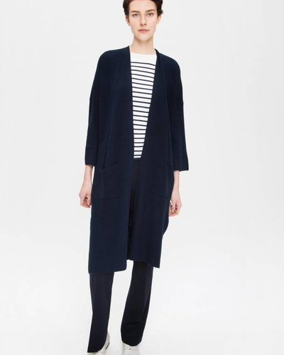 Zenggi Cotton Cashmere Cardigan Midnight Blue