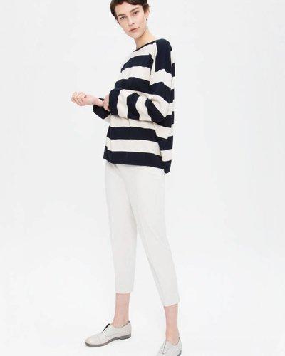 Zenggi Oversized Cotton Pullover Midnight Blue