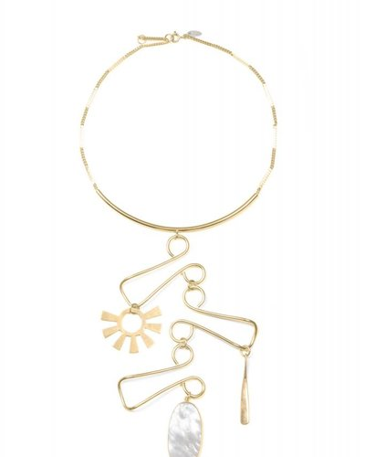 Wouters & Hendrix Wouters & Hendrix Statement necklace with large balancing pendant