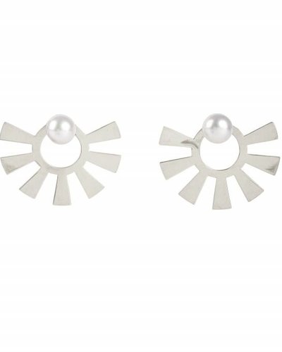 Wouters & Hendrix Wouters & Hendrix Big Stud earrings with sun and pearl