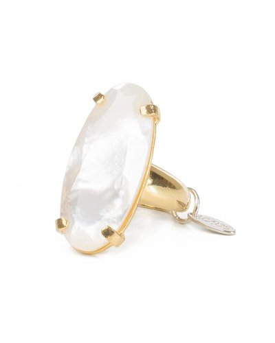 Wouters & Hendrix Wouters & Hendrix Statement Ring With Mother of Pearl