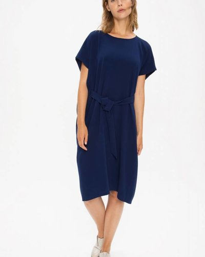 Zenggi Oversized Drapy Dress Royal Blue