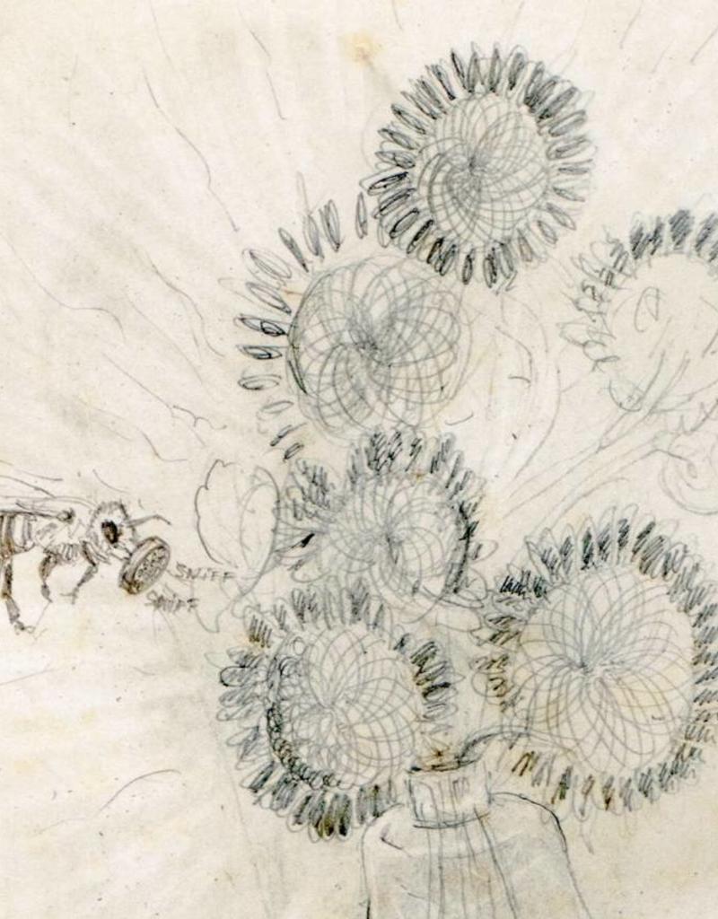 Editie Peter de Cupere, Perfumed Black Sunflowers, 30x40 cm