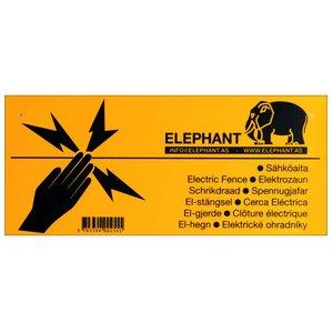 Elephant Varningsskylt