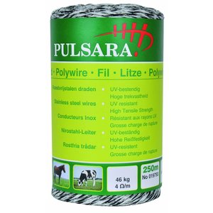 Elephant/Pulsara Poly wire, 9 SS-wires, White,  250m