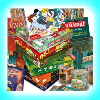 Spellen, gezelschapsspellen, familiespellen, reisspellen, denkspellen, muziekspellen etc.