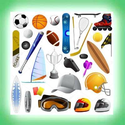 Sport Artikelen O.a. Basketbal, voetbal, tennis, badminton, hockey, darten, skateboarden etc.