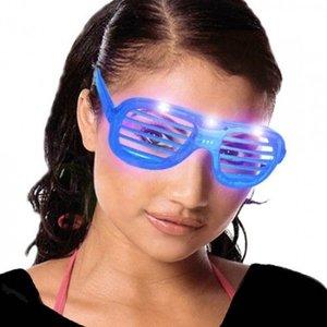 Huismerk Shutter Shades Feestbrillen met verlichting, 6 Stuks