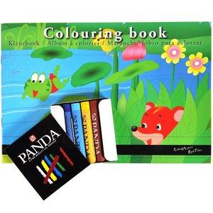 Huismerk Royal talens kleurboek inclusief pastel krijtjes