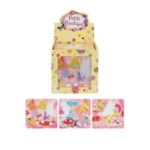 Huismerk Uitdeelcadeautjes - Puzzel: Fairy / Fee, 13 x 12 Cm in Traktatiebox (108 stuks)