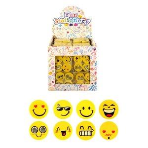 Huismerk Uitdeelcadeautjes - Gummen - Model: 4-delige Smiley Traktatiebox (120 stuks)