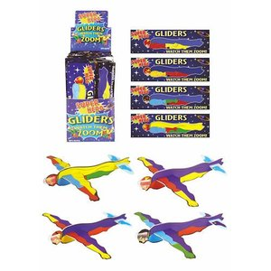 Huismerk Uitdeelcadeautjes - Fighter Gliders - Model: Super Helden in Display (48 stuks)