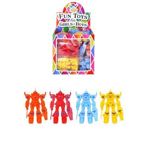 Huismerk Uitdeelcadeautjes - Grabbelton Transformers Robots in Traktatiebox (24 Stuks)