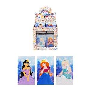 Huismerk Uitdeelcadeautjes - Notitieboekjes - Model: Prinsessen in Traktatiebox (168 Stuks)