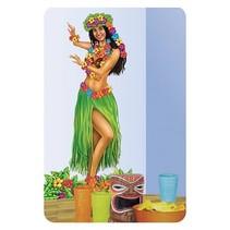 Hawaiiaanse muurdecoratie dansend Meisje 1,5 meter