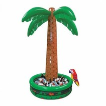 Unieke opblaasbare Palmboom IJsbak met een Papegaai 1,82 meter hoog