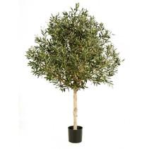 180 cm Kunst Olijfboom met een dikke stam en een grote bladerkroon