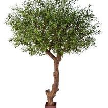 270 cm großer Kunst-Olivenbaum mit einem großzügigen Stiel und nicht weniger als 13668 Blättern