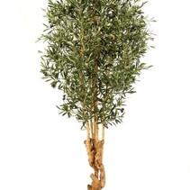 180 cm Künstliche Pflanze Olivenbaum natürliches Aussehen mit einem verdrehten Stamm