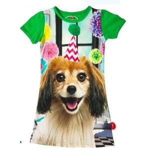 De kunstboer Groen kleedje met party-hond