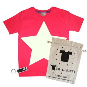 Little Mashers Glow in the dark T-shirt met ster