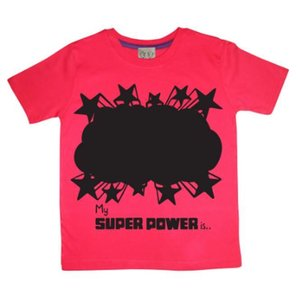 Little Mashers Rode krijt T-shirt met superpower