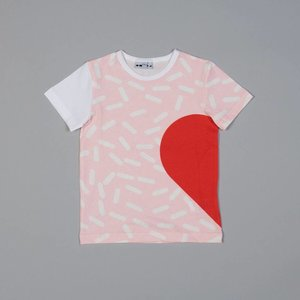 Shapes of things Shapes of things - T-shirt roze met half hartje