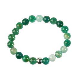 Agaat (groen) armband 20 cm | 8 mm kralen