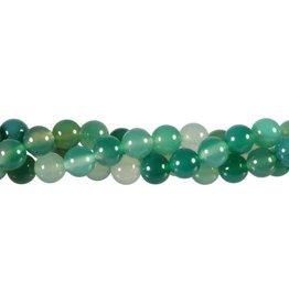 Agaat (groen) kralen rond 8 mm (streng van 40 cm)