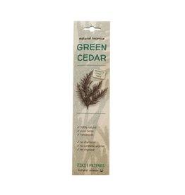 Wierook groene ceder (15 stokjes)