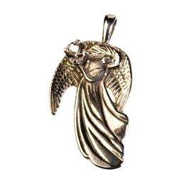 Zilveren hanger azeztuliet facet engel